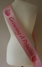 Pink Baby Shower Party Sash Sashes,Growing A Princess Crown Pink/Pink Mummy Mum