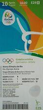 TICKET 10.8.2016 Olympia Rio Gymnastics - Artistic Turnen # E29
