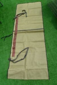 Fishing Rod Holdall Roll Up Canvas 6 Rod Carry Bag Vintage Type