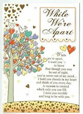 While We're Apart Card Thinking Of You Card Love And Sentiment
