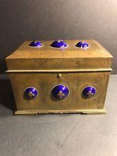 An Antique Bronze And Enamel French Box / Circa 1880