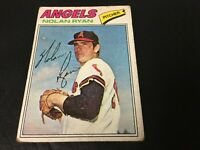 NOLAN RYAN 1977 TOPPS BASEBALL CARD #650 ANGELS Fair Condition Vintage Baseball