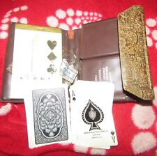 VINTAGE PLAYING CARDS ARRCO PLAYING PLASTIC DECK OF CARDS WITH TAX STAMP -CASE