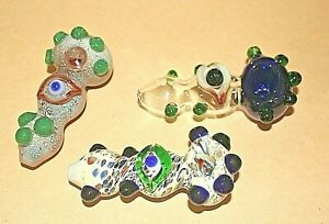 """5""""  EYE BALL COLLECTIBLE TOBACCO HEAVY GLASS PIPE - HAND MADE PIPES EYEBALL"""
