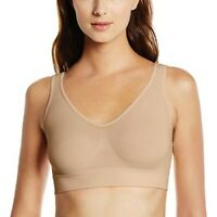Hanes Get Cozy All Day Comfort Racerback Pullover Bra Size Small 36-38C TAN  NEW