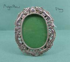 More details for antique chinese export silver photograph frame dragon & pearl design luen wo