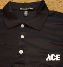 NEW Men's ~ ACE HARDWARE ~ Navy Blue Embroidered Polo Golf Uniform Shirt Medium