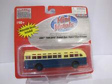 Classic Metal Works-Mini Metals GMC tdh-3610 Transit Bus Blue & Cream - 1:87