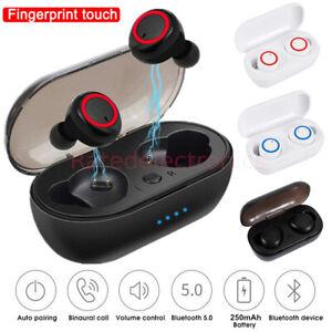 Wireless Earbuds Bluetooth 5.0 Noise Cancelling Headphones Waterproof Headset US