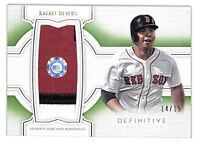 2020 Topps Definitive Rafael Devers 14/15 jumbo patch relic card Red Sox