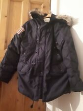 RALPH LAUREN denim and supply  down feather navy blue  Padded Jacket Coat Size L