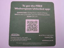 Beer Coaster ~ JD WETHERSPOON Pub Chain in Great Britain & Ireland ~ Be Curious!