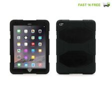 Apple iPad 2/3/4 Defender Heavy Duty Black Cover Shockproof Rubber Case Stand