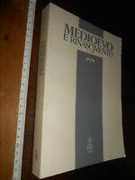 LIBRO:ANNUARIO DIP STUDI FIRENZE Medioevo e Rinascimento - I-1987