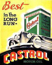 """Castrol Oil Small Metal Wall Sign 200mm x 150mm 8/"""" x 6/"""" Retro 10130"""