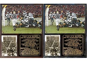 Ice Bowl Green Bay Packers Photo Plaque 1967 NFL Championship Game