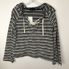 NWT Sanctuary Textured Stripe Hoodie Small