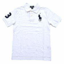 Polo Ralph Lauren Boys Big Pony Polo Shirt Classic Fit Kids Mesh School New Nwt