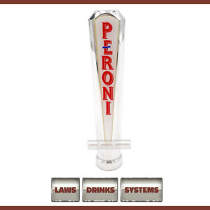 Peroni Branded Beer Tap Handle - Chrome, rounded top. FREE Delivery.
