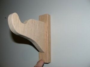 Red Oak Curtain Rod Brackets