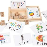 3-in-1 Kids Spelling Learning Game Wooden Spelling Words Baby Enlightenment Toys