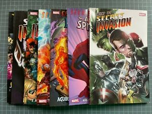 LOT OF 7 MARVEL SECRET INVASION TPB'S FF THOR SPIDEY WHAT IF?