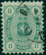 FINLAND #19 (14Sa) 8p light blue green, used, VF