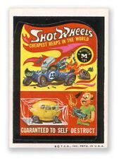 1970s WACKY PACKAGES Shot Wheels trading sticker replica fridge magnet NEW!