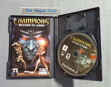 Champions: Return to Arms (Sony PS2, 2005) COMPLETE w/ Case & Manual, Everquest