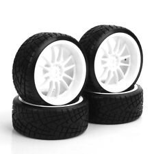 4Pcs 1/10 RC Car Drift Tire Wheel Rim For HSP HPI Racing 12mm Hex PP0290/069