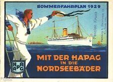 Mit der HAPAG in die Nordseebäder Hamburg Sommerfahrplan 1929