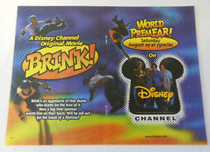 1998 two page Disney Channel tv movie ad ~ BRINK! ~ rollerblading