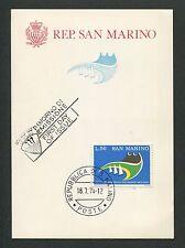 SAN MARINO MK 1974 PHILATELIE SCHIFFE SHIP MAXIMUMKARTE MAXIMUM CARD MC CM d6609
