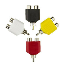 4x Dual 2-RCA Female to RCA Male Plug Y Splitter Adapter Audio Stereo Converter