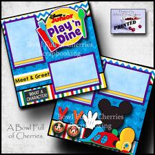 Disney Junior Play 'N Dine ~ 2 premade scrapbook pages printed paper Cherry 0147