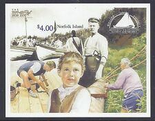 2000 NORFOLK ISLAND WHALER PROJECT STAMP SHOW OPT MINI SHEET FINE MINT MNH/MUH