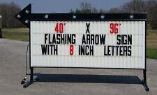 "NEW FLASHING PORTABLE OUTDOOR LIGHTED BUSINESS SIGN W/ 8"" LETTERS 40"" X 96"""