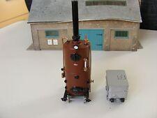 Quarry Boiler & Water Cart on Rails  -  1:43 Painted Metal Model