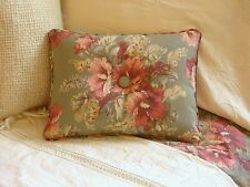 NEW Custom Ralph Lauren Shetland Manor Floral Accent Pillow Button 1 Button