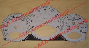 1 Set Dials/Speedometer discs/gauges Porsche 987 Boxster S MK1 Tiptronic MPH