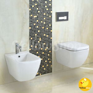 SANITARI SOSPESI COPRIVASO A CHIUSURA RALLENTATA SOFT VASO WC SEDILE BIDET BAGNO