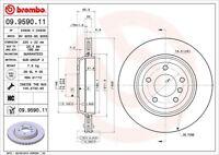 Disc Brake Rotor-Premium UV Coated OE Equivalent Rotor Rear Brembo 09.9590.11