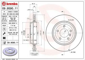Disc Brake Rotor-Base Rear Brembo 09.9590.11