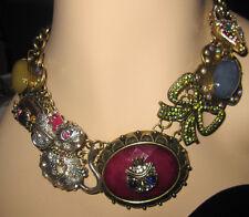 Betsey Johnson Women's Woodland CS Critter Bead Frontal Necklace Multi/Antique