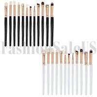 12Pcs Pro Soft Cosmetic Makeup Brushes Set Foundation Powder Eyeshadow Brush