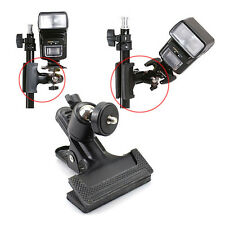Balck Photo Studio Flash Spring Clamp Clip Mount WITH Ball Head for Camera Flash