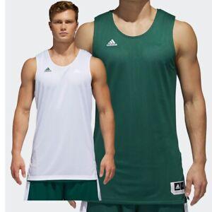 adidas Mens Basketball Vest Top Gym Sports Reversible Jersey Tee T-Shirt XS-XXL
