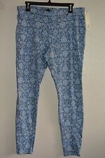 JUNE & DAISY PRINTED DENIM LEGGING size L #brocade @ $25.99 & $6.99 SH IN US