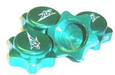 203000216 17mm Hex Aluminium 1/8 Wheel Nut Cover 1.25 Thread x 4 Green