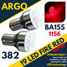 19 LED 382 RED REAR FOG LIGHT BULBS LAMPS 1156 BA15S P21W 12V PAIR UPGRADE SET